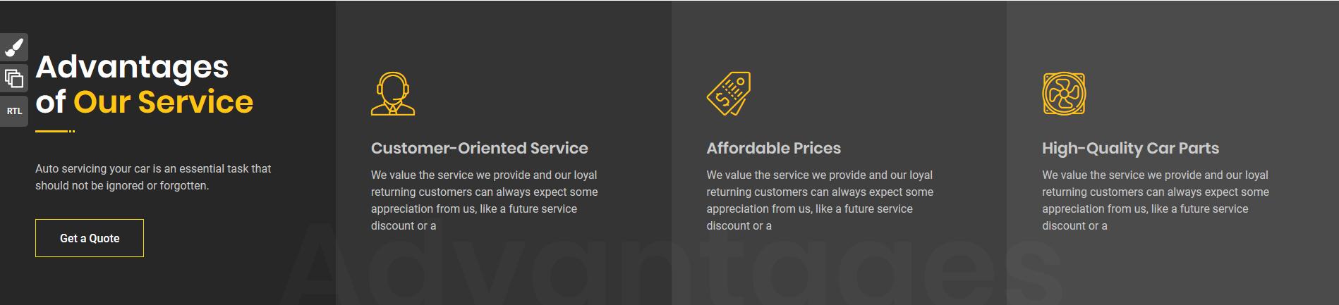 服务项目网页版式-图标
