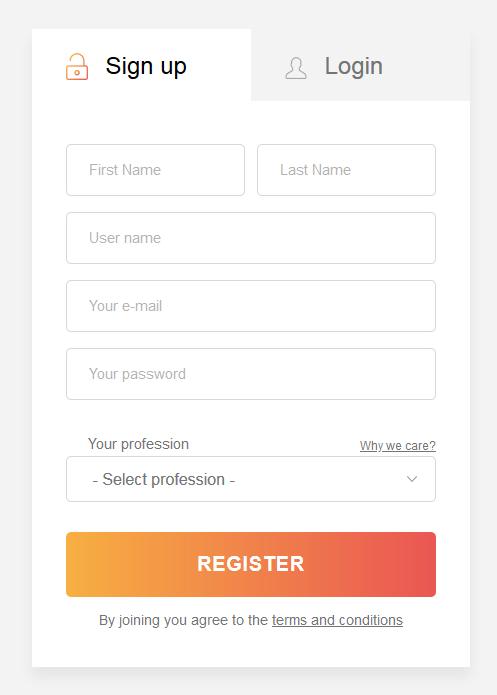 注册登录界面
